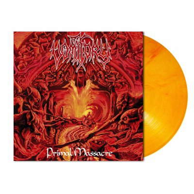 Vomitory - Primal Massacre | Orange Red Marbled Vinyl