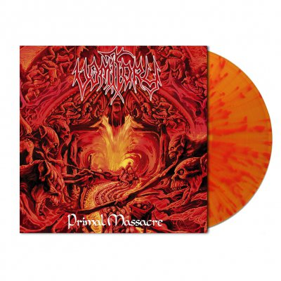 shop - Primal Massacre | Flame Splatter Vinyl