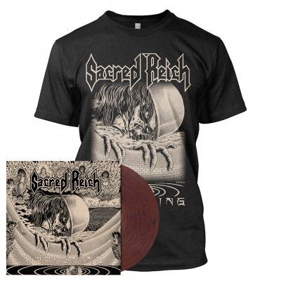 Sacred Reich - Awakening | Clear/Red-Brown Marbled Vinyl Bundle