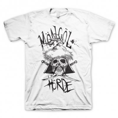 Möngöl Hörde - Skull Logo White | T-Shirt (+Digital Download)