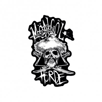 Möngöl Hörde - Skull Logo | Diecut Sticker (+Digital Download)