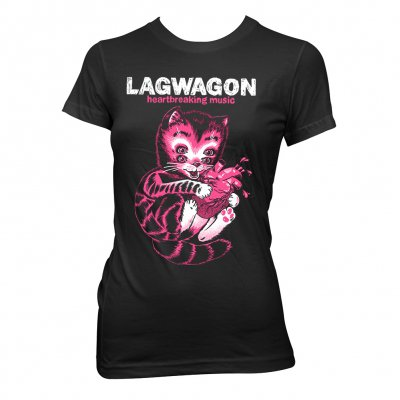 lagwagon - Heart Cat | Fitted Girl T-Shirt