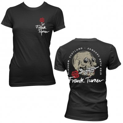 frank-turner - Skull Rose Glasgow | Girl Fitted T-Shirt