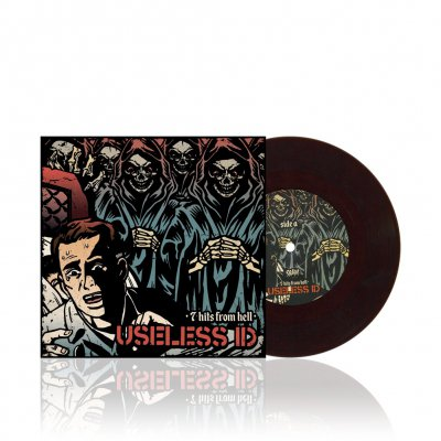 Useless Id - 7 Hits From Hell | Brown/Black Splatter 7inch