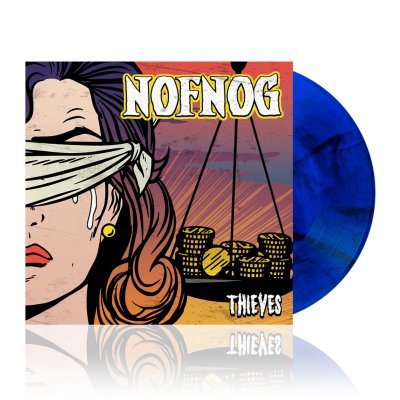 Nofnog - Thieves | Blue/Black Splatter Vinyl