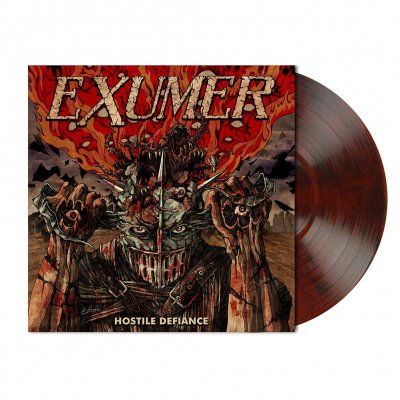 Exumer - Hostile Defiance | Red-Brown/Black Marbled Vinyl