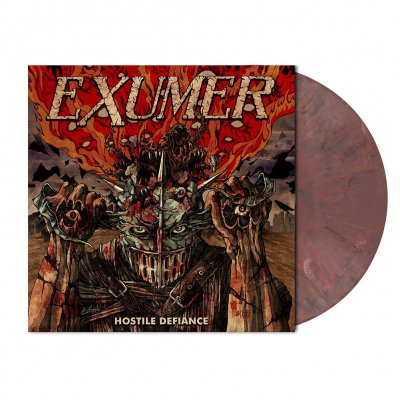 Exumer - Hostile Defiance | Pale Blackberry Marbled Vinyl