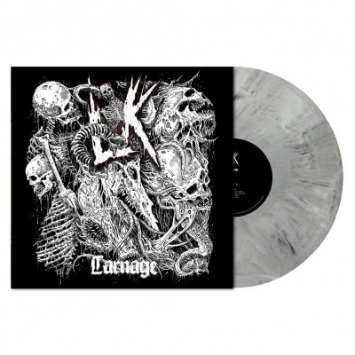 shop - Carnage | Grey/Black Marbled Vinyl