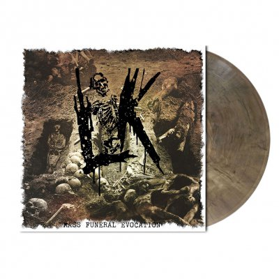 shop - Mass Funeral Evocation | Grey-Brown Marbled Vinyl