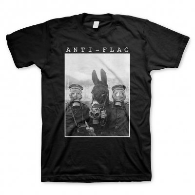 anti-flag - Donkey Gasmask Black | T-Shirt