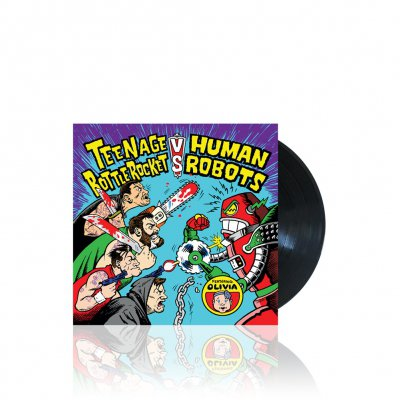 Teenage Bottlerocket Vs. Human Robots - Vs. Human Robots Split | Black 7 Inch