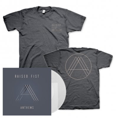 Raised Fist - Anthems | Clear Vinyl+T-Shirt