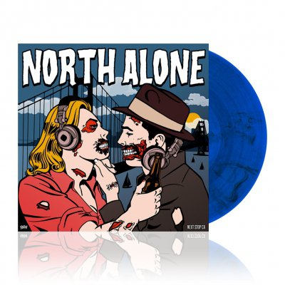 North Alone - Next Stop CA | Trans. Blue/Black Marbled Vinyl