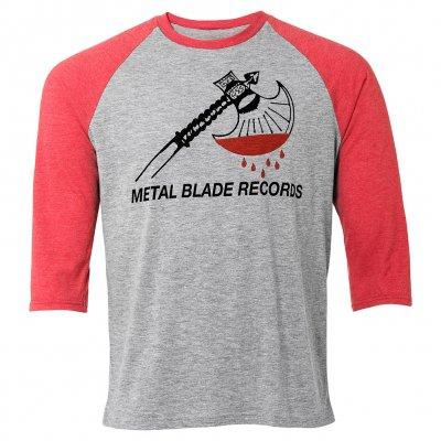 metal-blade - Axe Logo | 3/4 Baseball Longsleeve