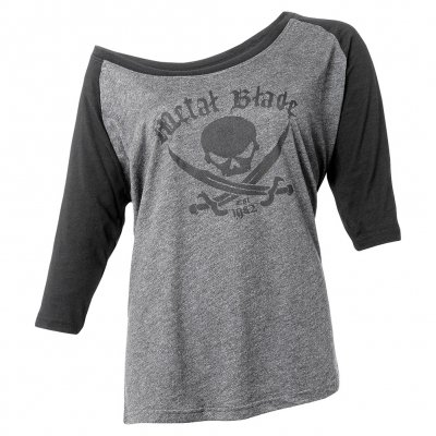 metal-blade - Pirate Logo Est. | Fitted Girl 3/4 Raglan