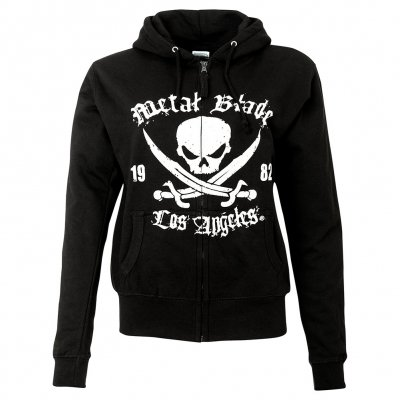Metal Blade - Pirate Logo LA Black | Girl Zip-Hood
