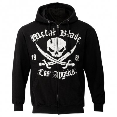 Metal Blade - Pirate Logo LA Black | Zip-Hood