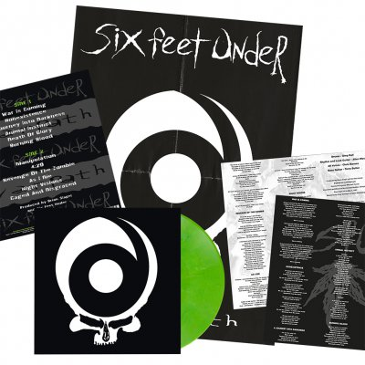 Six Feet Under - Warpath | Lime Green Marbled Vinyl