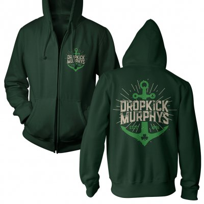 dropkick-murphys - Anchor Admat Green | Zip-Hood