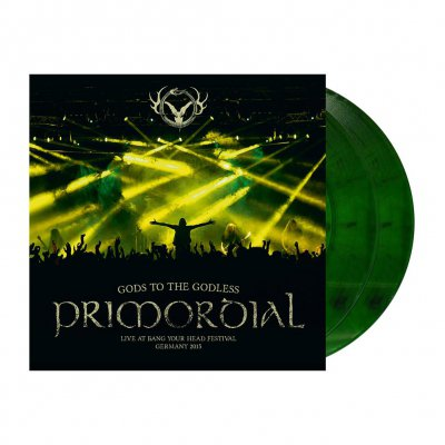 Primordial - Gods To The Godless | 2xGreen/Orange Marbled Vinyl