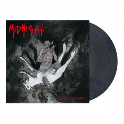 midnight - Rebirth By Blasphemy | Red/Blue Marbled Vinyl