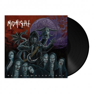 midnight - Rebirth By Blasphemy | Black Vinyl 7 Inch
