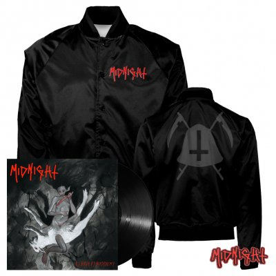 Midnight - Rebirth By Blasphemy | Black Vinyl+Jacket Bundle