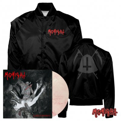 Midnight - Rebirth By Blasphemy | Bloody Skin Vinyl+Jacket Bundle