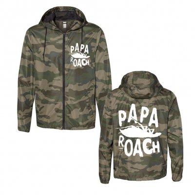 papa-roach - Classic Logo Camo | Windbreaker