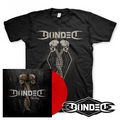 Bonded - Rest In Violence | Red Vinyl+T-Shirt+Patch Bundle
