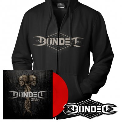 Bonded - Rest In Violence | Red Vinyl+Zip+Patch Bundle
