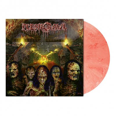 Fleshcrawl - As Blood Rains From The Sky | Rd/Wht Marbled Vinyl