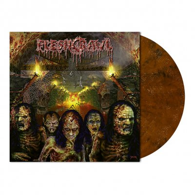Fleshcrawl - As Blood Rains From The Sky | Color+Glitter Vinyl
