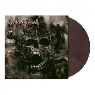 Fleshcrawl - Soulskinner | Burgundy Red Marbled Vinyl