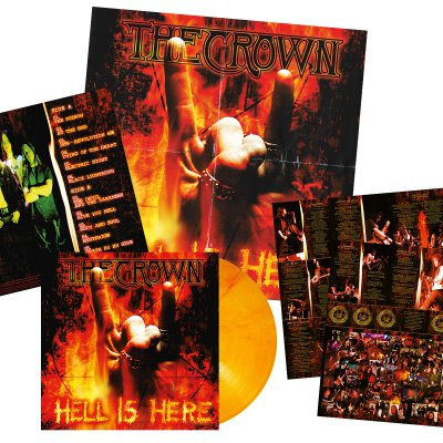 The Crown - Hell Is Here | Orange/Red Marbled Vinyl