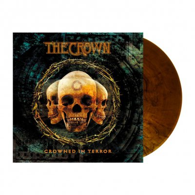 The Crown - Crowned In Terror | Orange-Brown Mabrled Vinyl