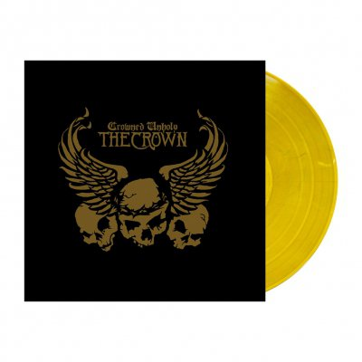 shop - Crowned Unholy | Clear Old Gold Marbled Vinyl