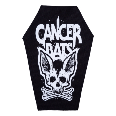 cancer-bats - Crossbones Coffin | Backpatch