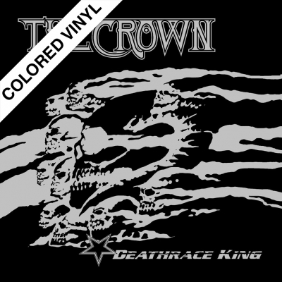 The Crown - Deathrace King | White Black Marbled Vinyl