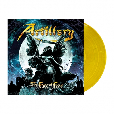 Artillery - The Face Of Fear | Golden Yellow/Blue Marbled Viny