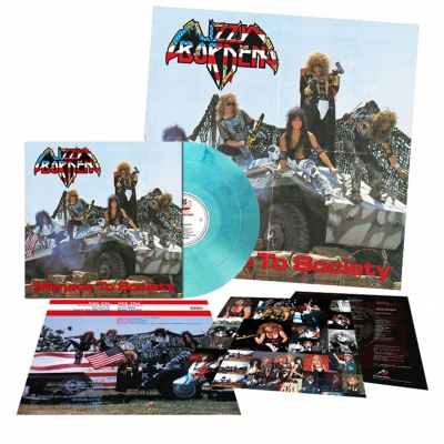 Lizzy Borden - Menace To Society | Clear Sky-Blue Marbled Vinyl