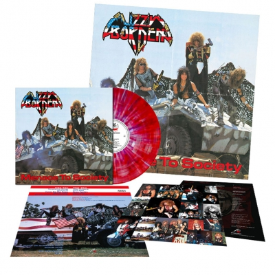 Lizzy Borden - Menace To Society | Red/Purple/White Splatter Viny