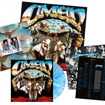 Omen - The Curse | White/Blue Splatter Vinyl