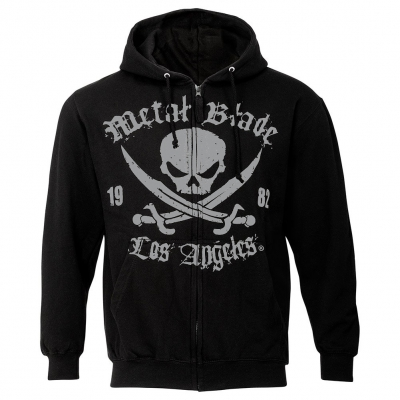 Metal Blade - Pirate Logo LA Black | Zip-Hood
