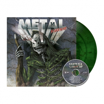 shop - Metal Massacre 14 | Pine Green Marbled Vinyl