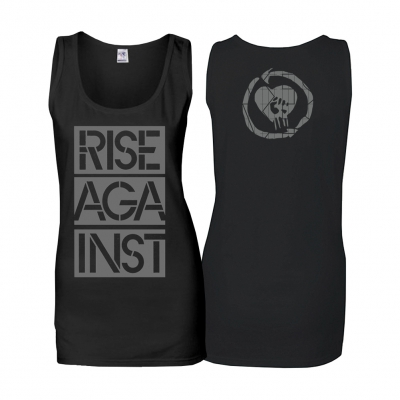 Rise Against - Stacked Ghost Notes Stencil | Girl Tank Top