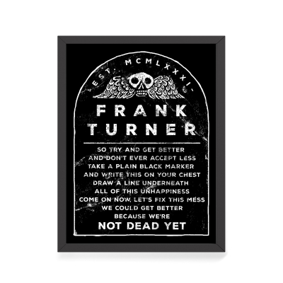 frank-turner - Not Dead Yet | Print