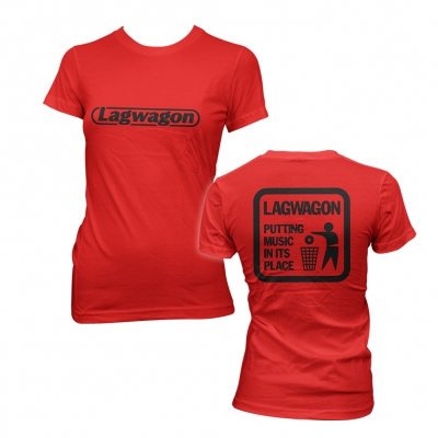 lagwagon - Putting Music Red | Fitted Girl T-Shirt