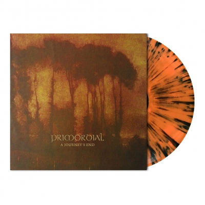 shop - A Journey's End | Orange/Black Splatter Vinyl