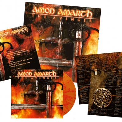 Amon Amarth - The Avenger | Flame Splatter Vinyl